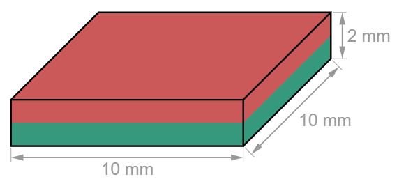 Block Neodymium magnet 10 x 10 x 2 mm-U-Polemag