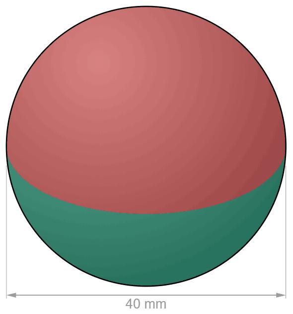 N40 Sphere Neodymium magnet Ø 40 mm-U-Polemag