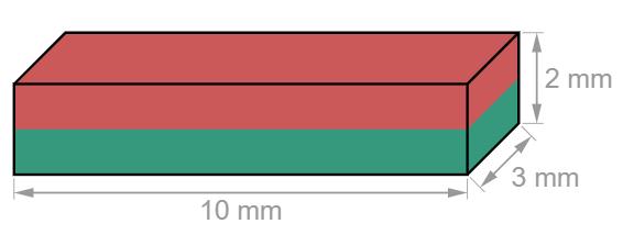 Block Neodymium magnet 10 x 3 x 2 mm-U-Polemag